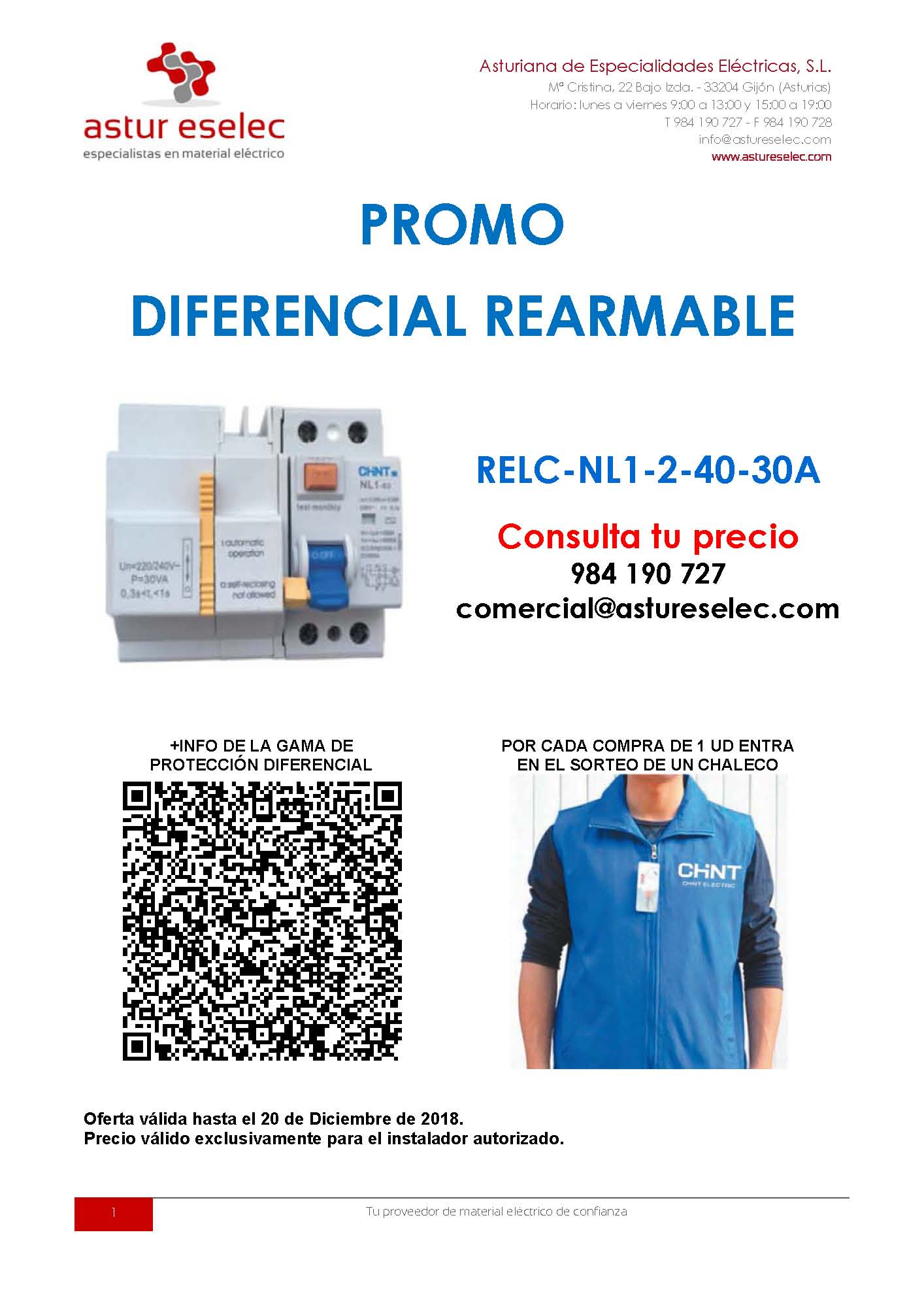 PROMO REARMABLE 2018 CHINT ELECTRICS